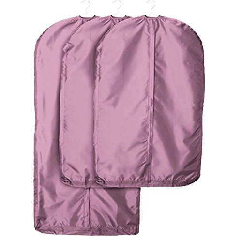 VOIMAKAS Clothes Cover Bag, Single Breathable Garment Bag Zippered Washable Purple Hanging Clothes Cover Travel Hanging Suit-47Inch by VOIMAKAS