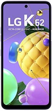 """Smartphone LG K62 Azul, com Tela de 6,59"""", 4G, 64GB e Câmera Quádrupla de 48MP+5MP+2MP+2MP - LMK5"""