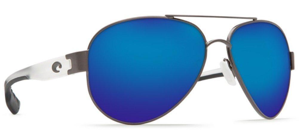 Costa Del Mar South Point Sunglasses Gunmetal w/Crystal/Blue Mirror 580Plastic by Costa Del Mar