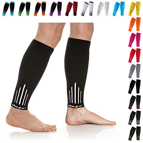 NEWZILL Compression Calf Sleeves (20-30mmHg) for Men & Women - Perfect Option to Our Compression Socks - for Running, Shin Splint, Medical, Travel, Nursing, Cycling (S/M, -