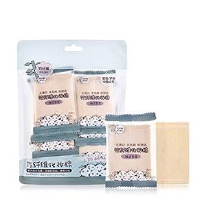 Makeup Remover Pads Onkessy 30Pcs Natural Premium Bamboo Fiber Cotton Pad Cosmetic Cotton Pads Makeup Facial Soft Makeup…