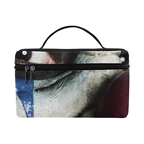 Evil Scary Clown Monster Pattern Lunch Box Tote Bag Lunch Holder Insulated Lunch Cooler Bag For -