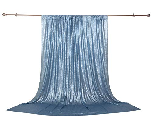 Poise3EHome 4FT x 7FT Sequin Photography Backdrop Curtain for Party Decoration, Baby -