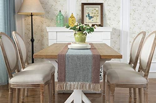 NKLHJ Table Runner Mesa Moderna Mantel A Rayas con Borla Bandera De Mesa De Comedor para Decoración De Bodas (38 * 180 Cm): Amazon.es: Hogar