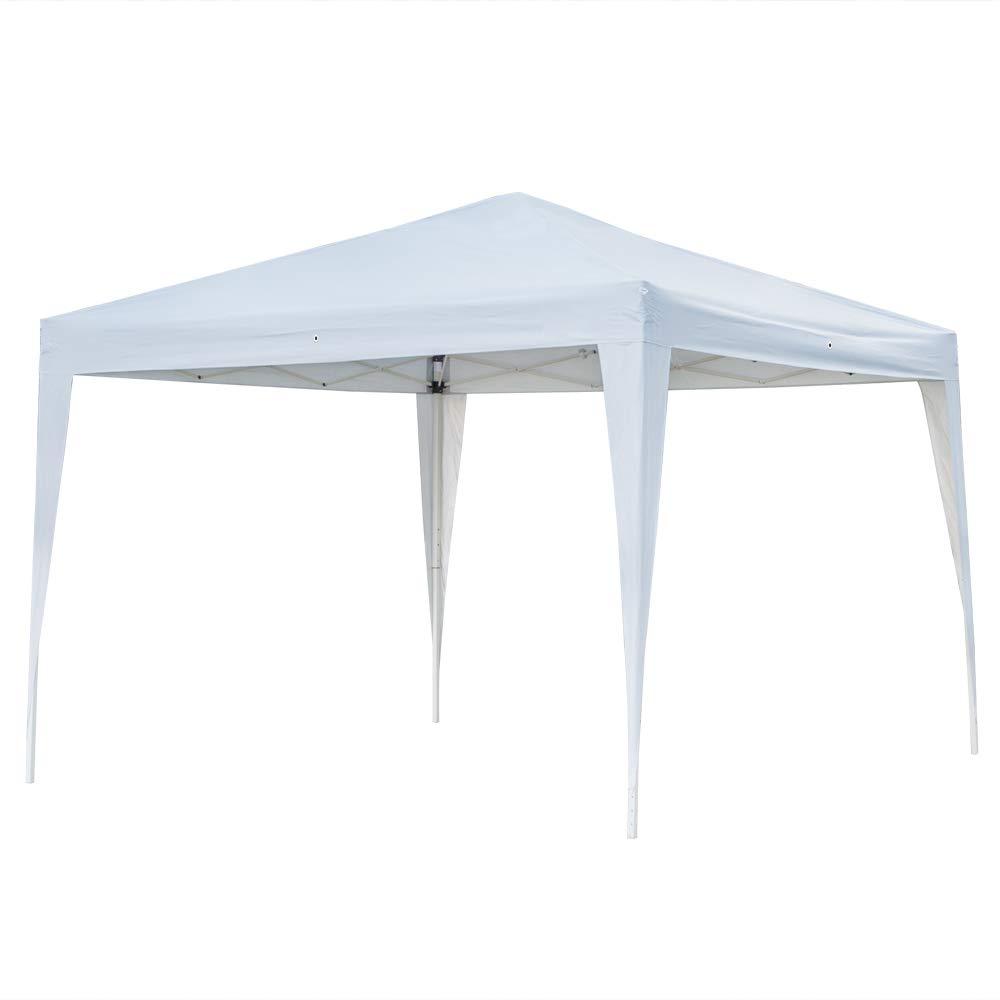 3 x 3m Two Doors & Two Windows Practical Waterproof Folding Tent White
