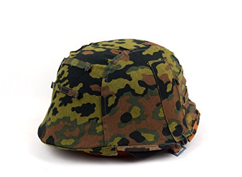 Repro Reversible WWII German M35 Helmet Cover Spring W Fall OAK Camo (German Camouflage)