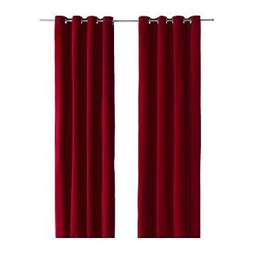 IKEA SANELA Gardinenpaar in rot; (140x300cm): Amazon.de: Küche