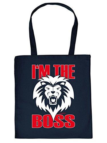 IM THE BOSS :Tote Bag Henkeltasche Beutel mit Aufdruck. Tragetasche, Must-have, Stofftasche,Geschenkidee