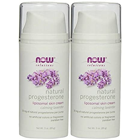 NOW Foods Natural Progesterone Liposomal Skin Cream Calming Lavender, 3 oz-2 Pack Urban Decay Naked Skin Beauty Balm Naked Medium SPF 20