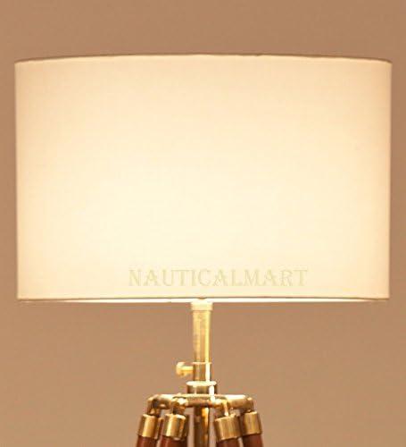 8 Off-white Cotton Straight Drum Lamp Shade By Nauticalmart