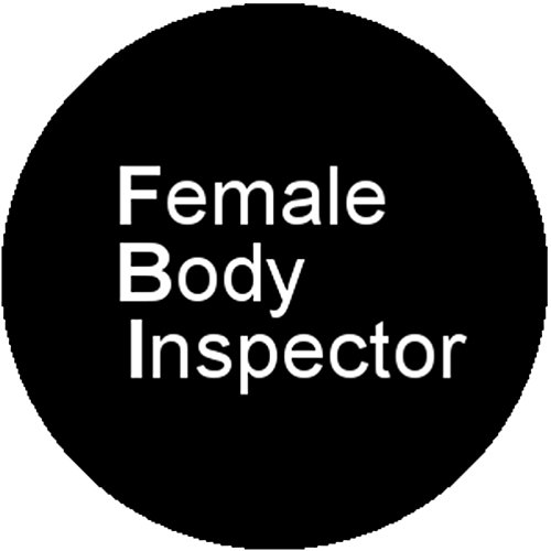 Fbi Costume Badge (New Black Badge Button Pin FBI Female Body Inspector Rude Sexy Humor Joke)