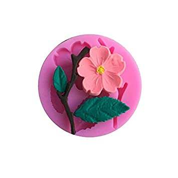 Amazon.com: 3D Silicone Mold Peach Blossom Cake Decorating Tool Chocolate Candy Jello Baking moldes de silicona para reposteria: Kitchen & Dining
