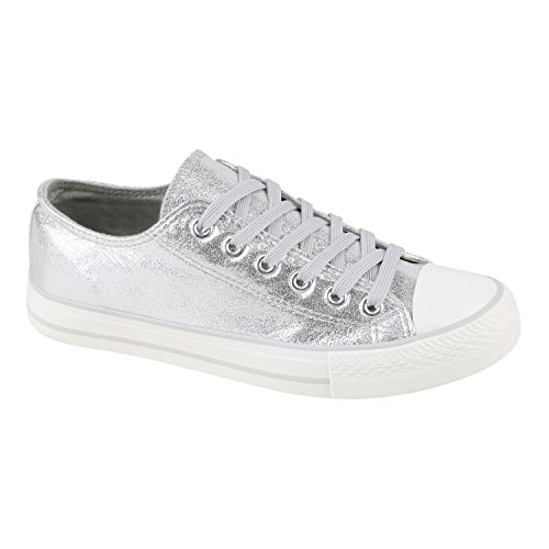 Stiefelparadies Damen Sneakers Spitze Sneaker Stoffschuhe