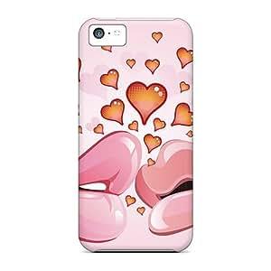 Iphone 5c DlFPcCJ5377SPjQZ Love Kiss Tpu Silicone Gel Case Cover. Fits Iphone 5c
