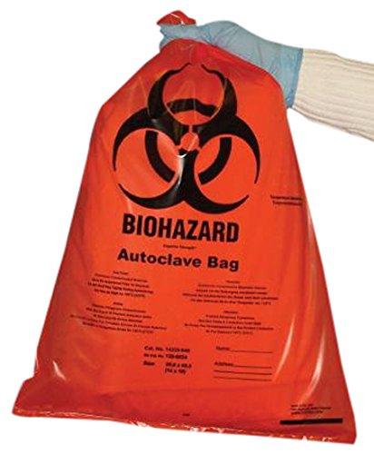 Tufpak 1112-1224 Autoclavable Biohazard Bags, Clear, 12 x 24'' (30.5 x 61cm)