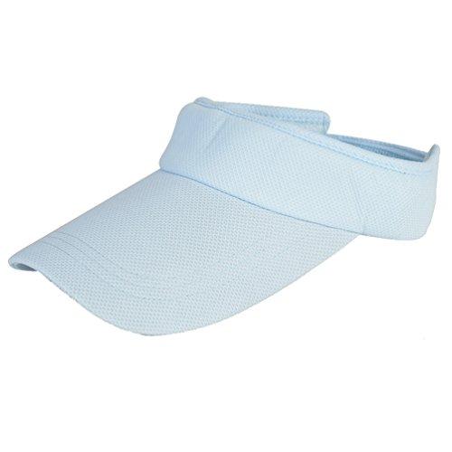 Dasior Women's Solid Sports Outdoor Adjustable Visor Blank Sun Hat Blue