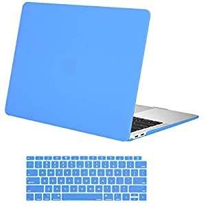 MOSISO MacBook Air 13 inch Case 2020 2019 2018 Release A2179 A1932 with Retina Display, Plastic Hard Shell Case & Keyboard Cover Only Compatible with MacBook Air 13 with Touch ID, Brahmin Blue