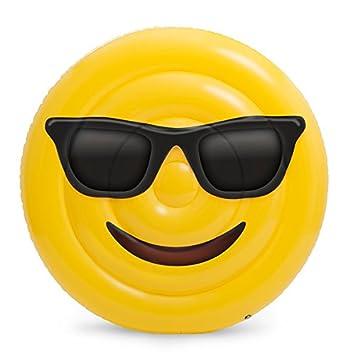 Emoji Colchoneta Hinchable Cara Gafas Saica 5887: Amazon.es: Juguetes y juegos