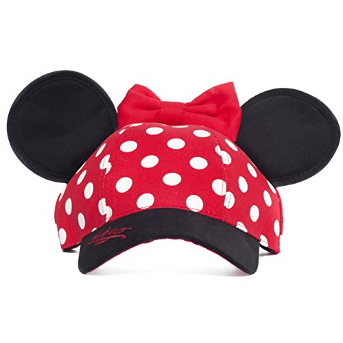Minnie Mouse Disneyland Polka Dot Snapback Cap with Ears - Disney Parks Exclusive -
