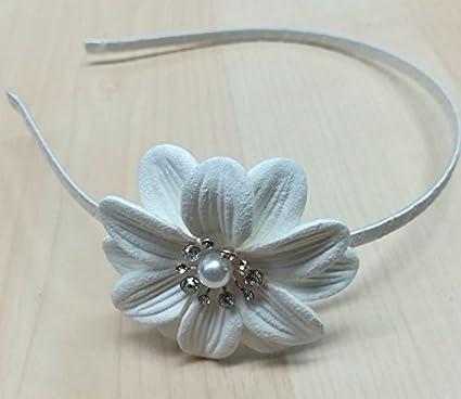 design senza tempo codice promozionale top design CERCHIETTO bianco accessori capelli cerimonia o PRIMA COMUNIONE ...