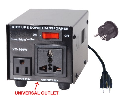 Voltage Transformer 200 Watt Step Up/Down converter  110/120 Volt - 220/240 Volt (240v Step)