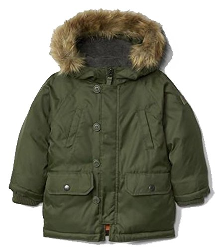 Baby Gap Toddler Boys Green Warmest Down Snorkel Parka Winter Coat 12-18 Months
