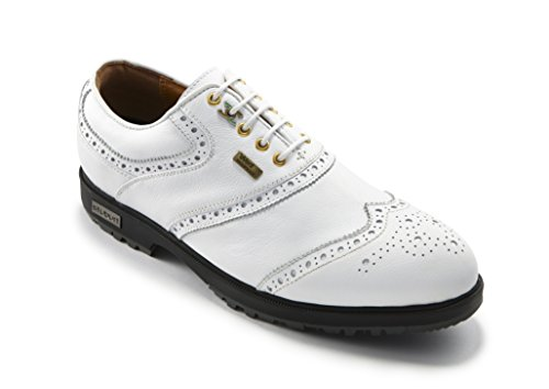 2016 Stuburt Classic Tour eVent Waterproof Mens Spikeless Golf Shoes-Leather White 9O6Qp