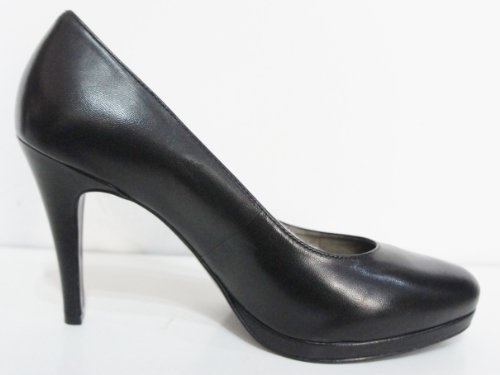 """Mesdames John Lewis """"Ionia"""" Cour en cuir noir de la chaussure"""
