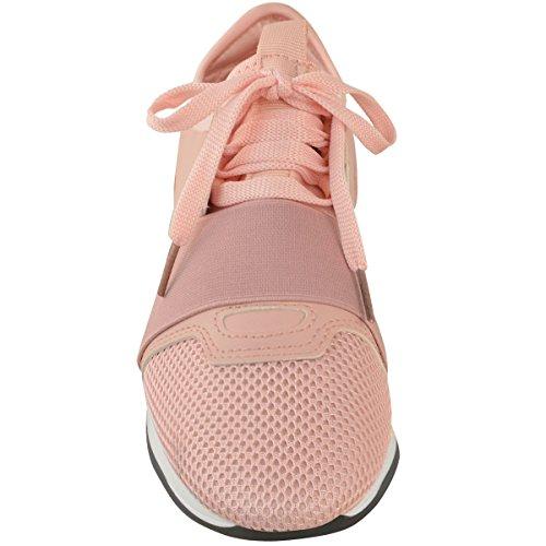 Mode Soif Femmes Filles Lacets Espadrilles Bande Élastique Marche Chaussures De Sport Taille Rose Faux Cuir