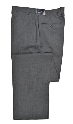 Brooks Brothers Men's Wool Blend Flat Front Dress Pants Textured Dark Blue 38W x 34L - Brooks Brothers Men Pants