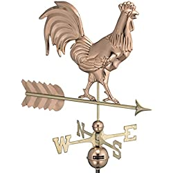 Good Directions Smithsonian Rooster Weathervane, Pure Copper