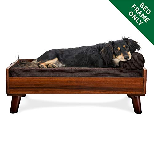 Sleek and Modern Elevated Pet Bed Frame Walnut