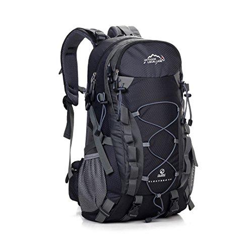 Cuckoo 36 Liters Women and Men High-capacity Outdoor Climbing Camping Travel Black Backpack Large Hiking Daypacks Waterproof Mountaineering Bag