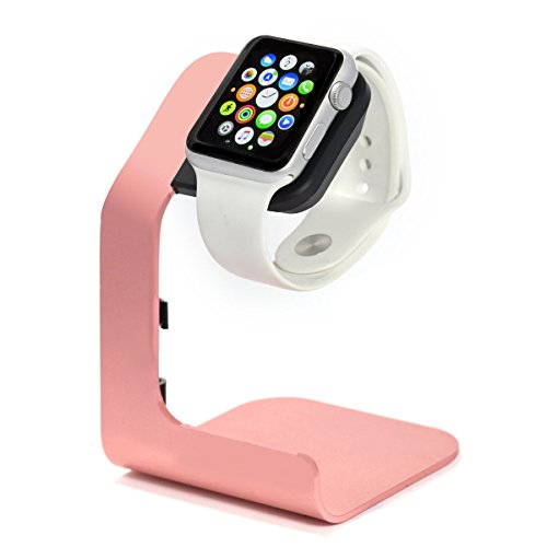 Apple Watch Stand-Tranesca Apple Watch Charging Stand for Series 4 / Series 3 / Series 2 / Series 1; 38mm/40mm/42mm/44mm Apple Watch-Rose Gold (Must Have Apple Watch Accessories)