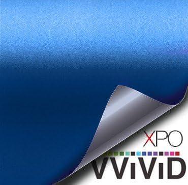 Vvivid XPO 3Mil 5ft x 1ft Gloss Blue Vinyl Car Wrap Film Decal