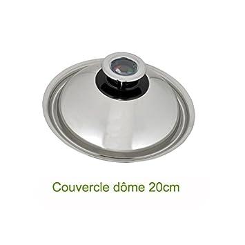 Abe - Tapa Domo (acero inoxidable, diámetro: 20 cm): Amazon ...