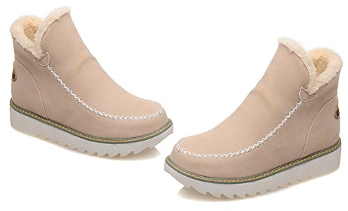 Bottines De Fashion Chaussures Slip Beige Aisun Femme Neige On F705aq