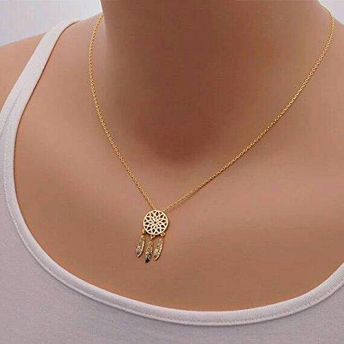 Gold Dream catcher necklace pendant suspension in - Bulgari Turkey