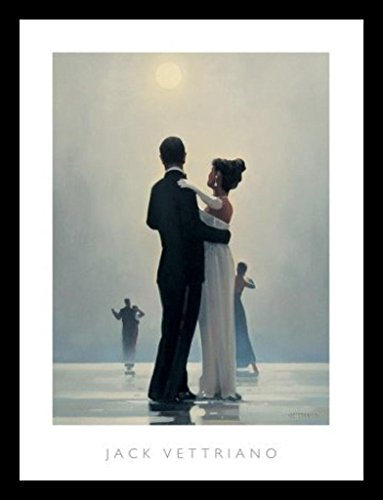 - Buyartforless Framed Dance Me to The End of Love by Jack Vettriano 31.5x23.75 Romantic Waltzers Art Print Romantic Dancing Under Moonlight