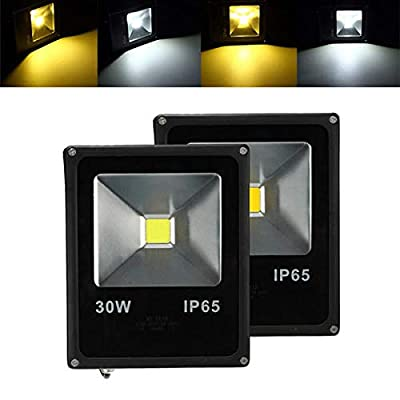30W Waterproof IP65 White/Warm White LED Flood Outdoor Garden Security Lamp - Outdoor Lighting LED Flood Lights - 1x LED flood light
