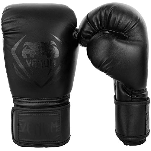 Venum Contender Boxing Gloves - Black/Black - 16-Ounce