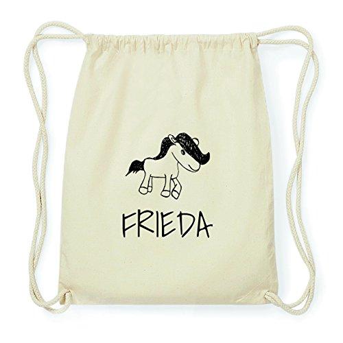 JOllipets FRIEDA Hipster Turnbeutel Tasche Rucksack aus Baumwolle Design: Pony 6oKXkopY