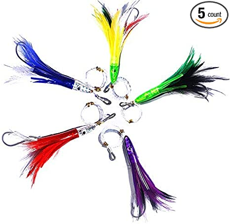 7 cm Bait for Coastal Trolling Head Chalice Small-Octopus-Feather