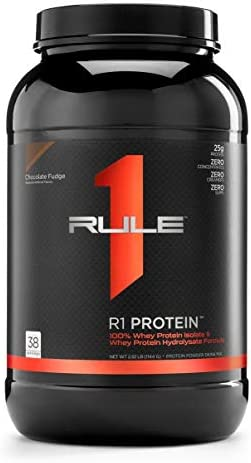 R1 Protein Whey Isolate Hydrolysate, Rule 1 Proteins 38 Servings, Chocolate Fudge