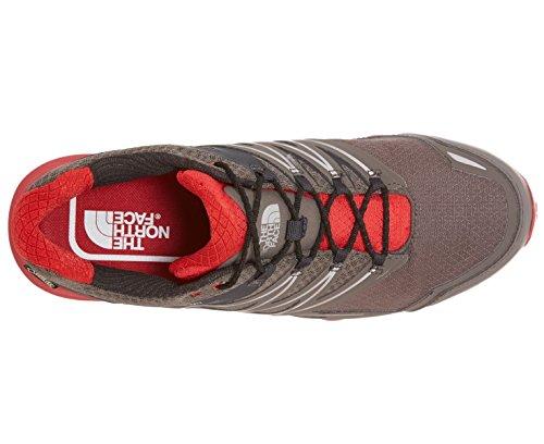 The North Face M Ultra Mt Gtx, Zapatillas de Running para Hombre Gris (Dark Gull Grey / Pompeian Red)