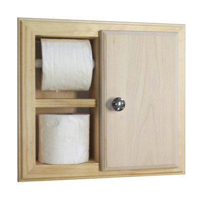 - Recessed Toilet Paper Holder Finish: Unfinished