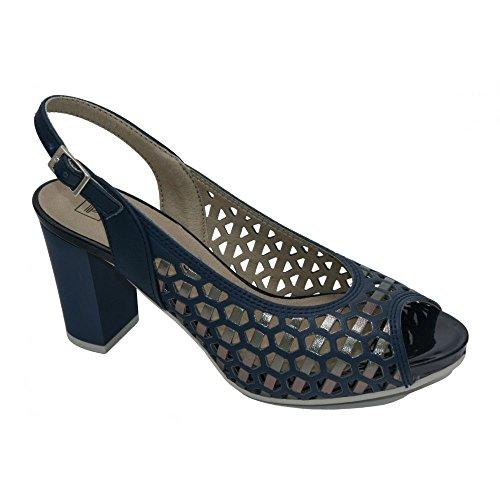 Pitillos Zapato plataforma azul, modelo 1124.
