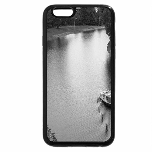 iPhone 6S Case, iPhone 6 Case (Black & White) - Bend in the River