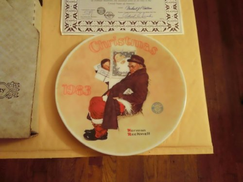 "Norman Rockwell ""Santa in the Subway"" knowles Collectors Plate 1983 with COA and Box"