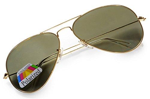 de sol 4sold Schwarzes hombre Gold para Gafas O5E74q